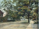 "Postcard photo of pre-1907 Main Street, Essex, NY. (Caption reads, ""Adirondack Mts, Main Street, Essex, NY"".)"