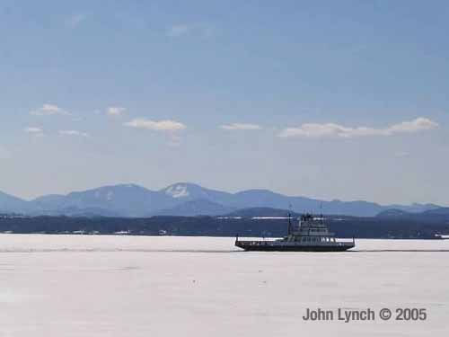 Lake Champlain 2005 Freeze, by John Lynch