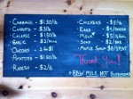 Essex Farm Stand Price Board (Credit: Kristin Kimball)