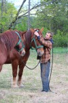 Chad caring for RRF horses