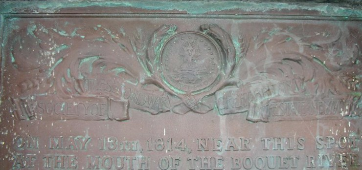 Battle of the Boquet River Monument in Willsboro, NY (Credit: NYS1812)