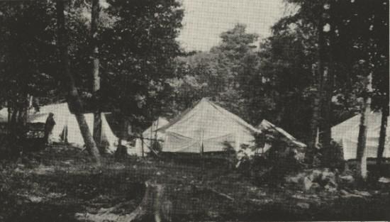 Tents at the Kent Boys Camp (Credit: 1915 Kent Camp Brochure)
