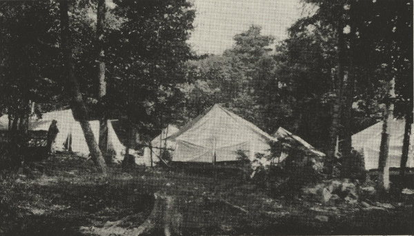 Tents at the Kent Boys Camp (Credit: 1915 Kent Camp Brochure)