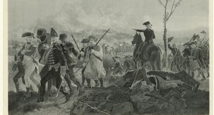 Print of the Battle of Bennington [Vermont], 1777. Courtesy of the New York Public Library Digital Collection (Photo credit: Wikipedia)