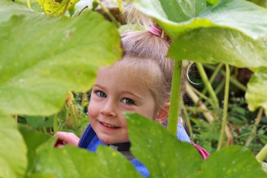 Lakeside School: girl in the garden