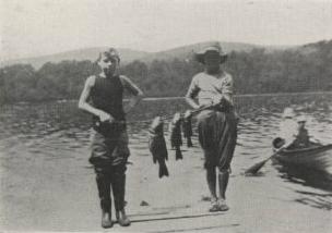 Fishing at Kent Boys Camp (Credit: 1915 Kent Camp Brochure)