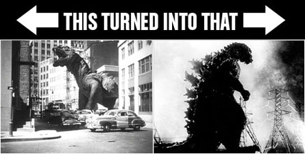 The Beast from 20,000 Fathoms was the inspiration for Godzilla.