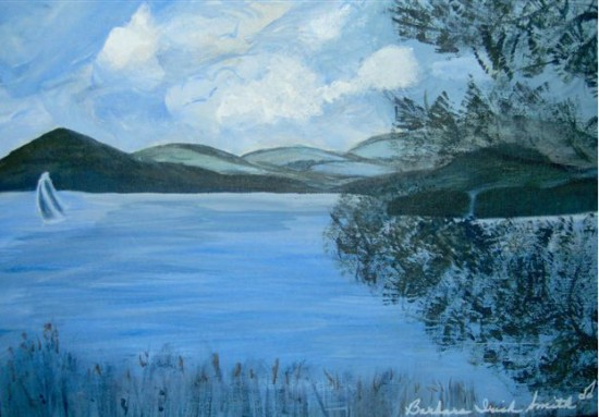 Whallons Bay Painting by Barbara Irish Smith