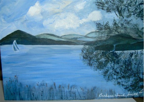 Whallons Bay Painting by Barbara Irish Smith (Full painting)