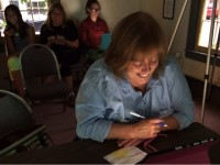 Blog workshop participant Deb Gryk at Essex Town Hall on Wednesday, June 11