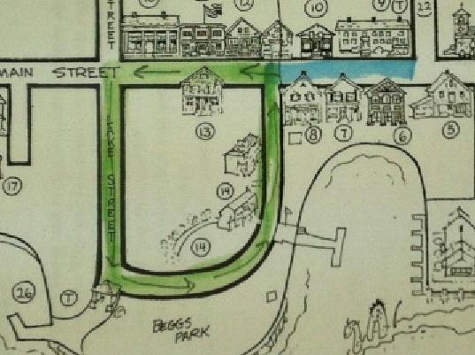 course map for the Kids Fun Run