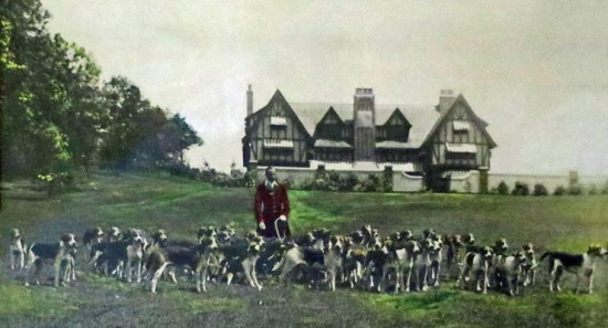 Henry Higginson with hunting dogs