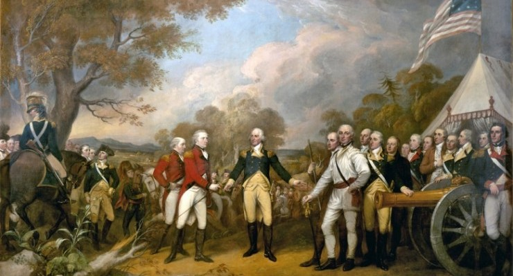"""Surrender of Burgoyne"" by the artist John Trumbull"