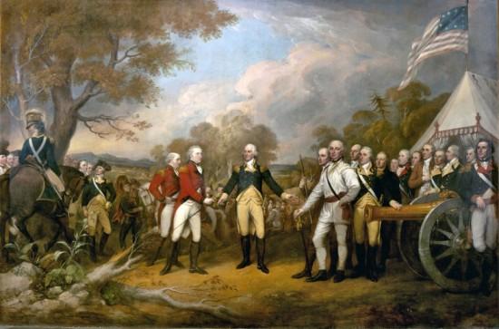 """Surrender of Burgoyne"" by the artist John Trumbull (Credit: Architect on the Capital)"