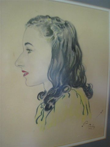 Betty Irish Williams portrait done by Sid Couchey. This was 1946 making her 16 years old.