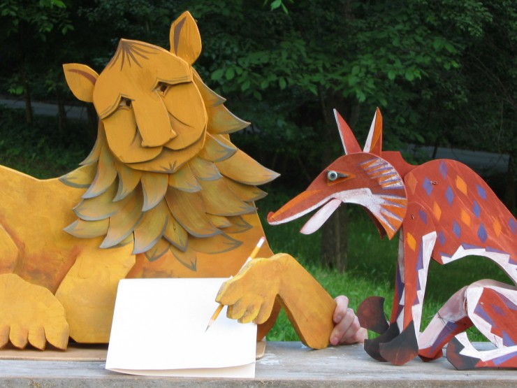 See the Mettawee players perform THE DANCING FOX at Beggs Park on July 23, 2014. (Credit: Mettawee Theatre Company)