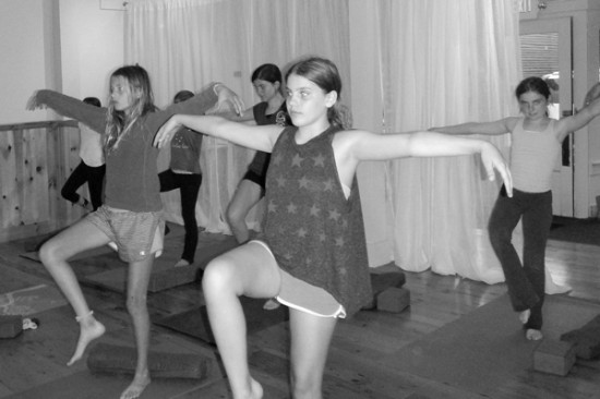 Pok-O campers yoga at LCY&W