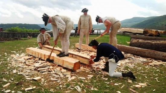 Fort Ticonderoga's Living History Weekend Event, September 13-14 will feature hut building recreating the structures built by troops at Ticonderoga in 1776.