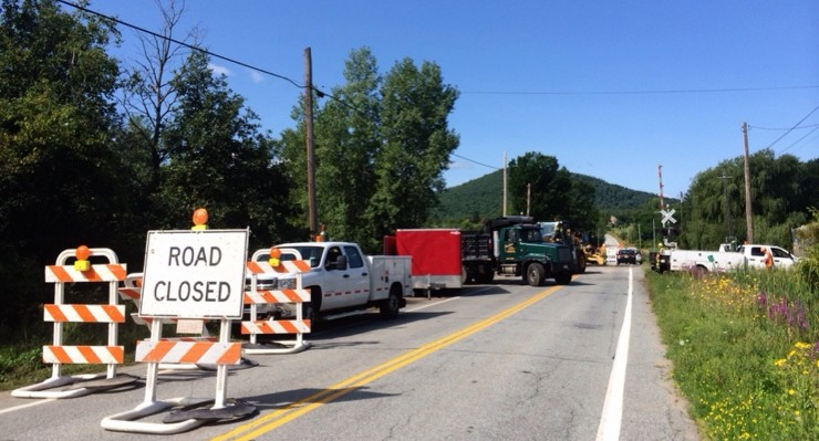 NYS Route 22 closed for railroad crossing repairs Aug 18-22 (Photo: George Davis)