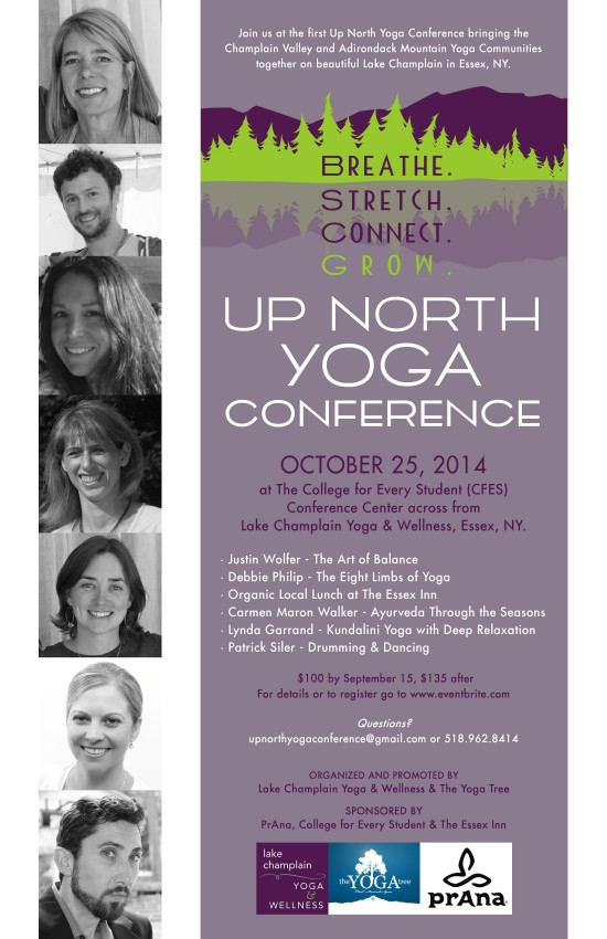 Up North Yoga Conference Flyer
