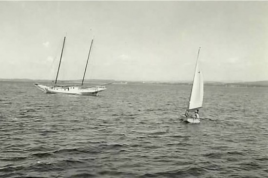 The Little Jennie on Lake Champlain near Essex, NY in the 1950s (Credit: Christine Allen Herrmann)