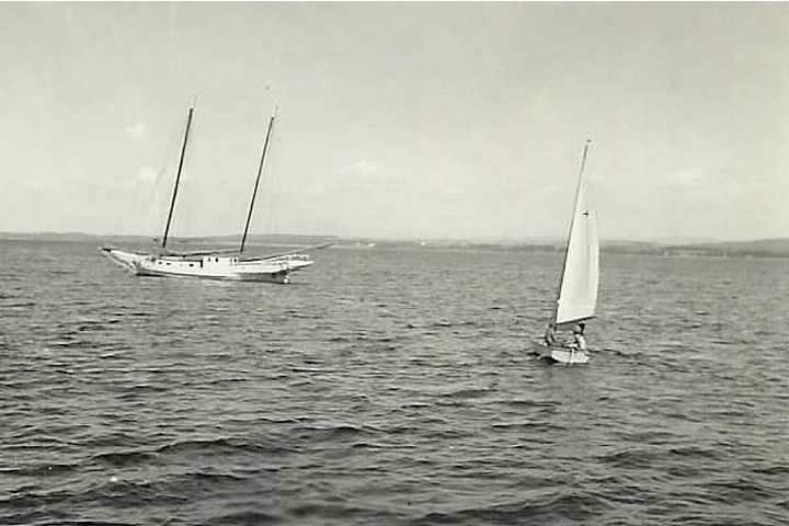 The Little Jenny on Lake Champlain near Essex, NY in the 1950s (Credit: Christine Allen Herrmann)