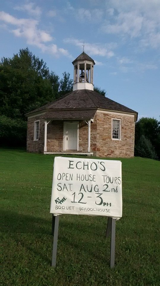On Essex Day earlier this month, ECHO hosted open house tours of the Boquet Schoolhouse. (Credit: ECHO)