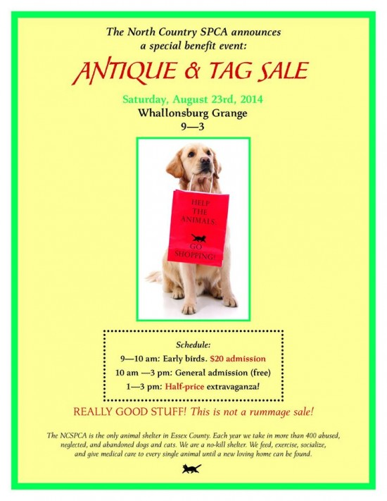 2014 NCSPCA Antique and Tag Sale