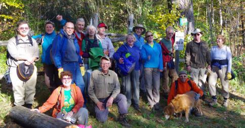 Volunteers work on Wildway Overlook Trail (Credit: CATS)