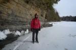 Tom on skates—getting ready to cross the frozen lake (Credit: Catherine Seidenberg)