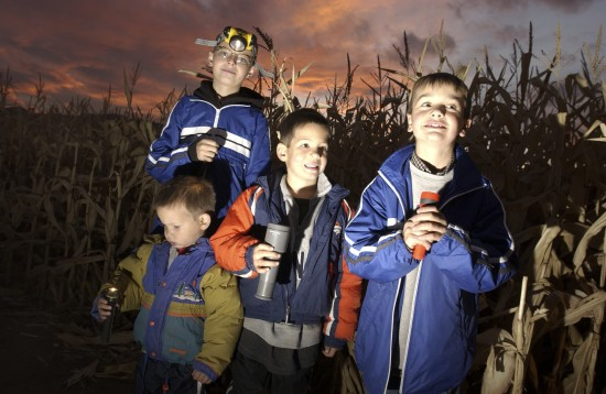 Maze by Moonlight and Garrison Ghost Tours at Fort Ticonderoga provide family fun of historic proportions this October! (Credit: Fort Ticonderoga)