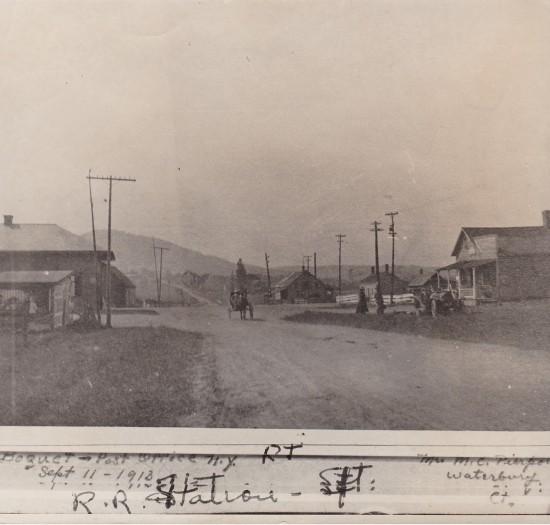 RR Station in Boquet Sept. 11, 1918 (Credit: William Morgan)
