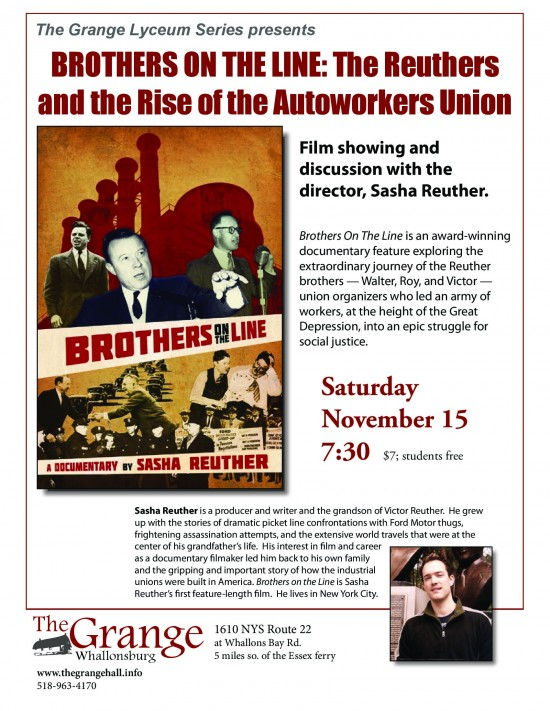 Brothers on the Line: The Reuthers and the Rise of the Autoworkers Union flyer