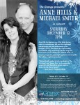 See Anne Hills and Michael Smith in concert at the Grange on Dec. 13, 2014.