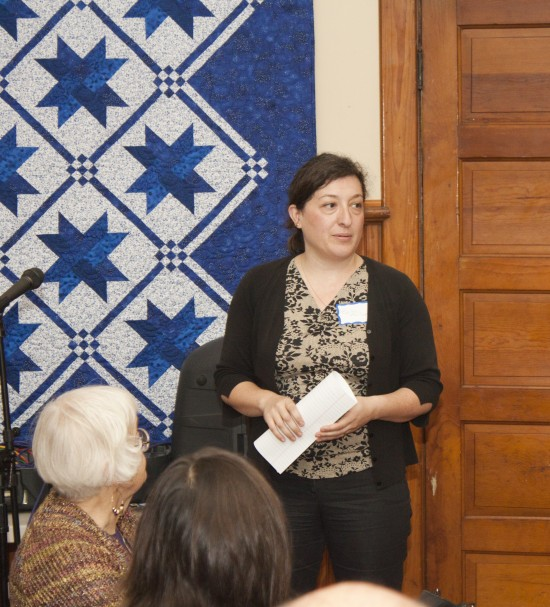 Emily Phillips discussing economic development plans (Credit: Jim Carroll/Overtime Photography)