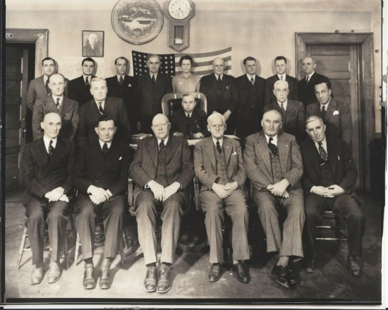 Essex County Board of Supervisors with Harry Albee seated second from the right in the front row. (Credit: Olive Alexander)