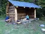 Adirondack Lean-To, Final Product (Photo: Hillary Stransky)