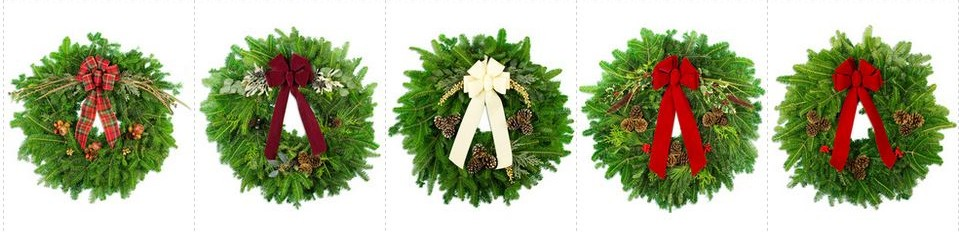 Some examples of wreaths available during the Lakeside School Wreath Sale. (Credit: Three Rivers Wreath and Plant Company)