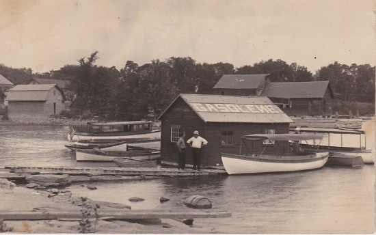 Vintage Photo of Essex Gasoline Dock (Thanks to William Morgan for sharing.)
