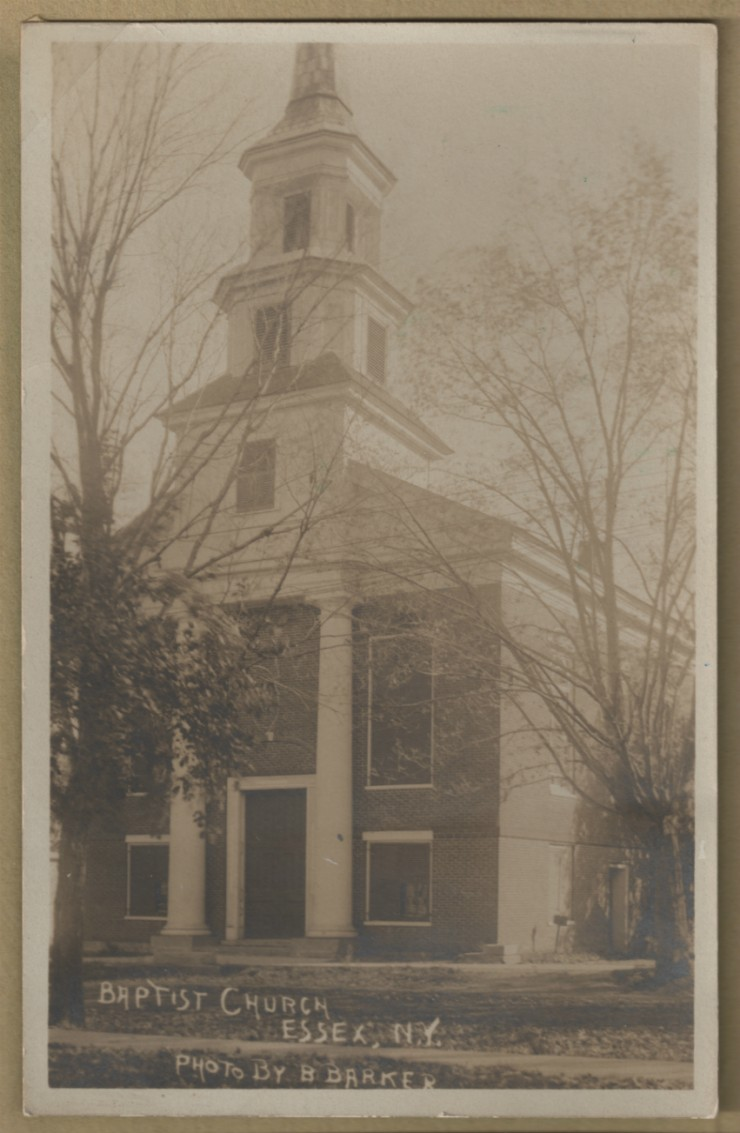 Baptist Church, Essex, NY. Photo by B. Barker. (Shared by Susie Drinkwine)