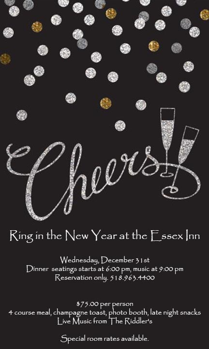 Essex Inn New Year poster