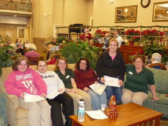 Several employees of the Champlain Valley Senior Community who were recently honored in an awards ceremony. (Credit CVFC)