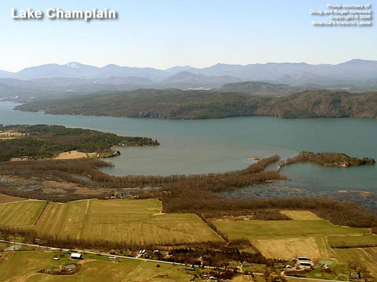 Lake Champlain (Photo courtesy of Doug & Roger Harwood via America's Historic Lakes)