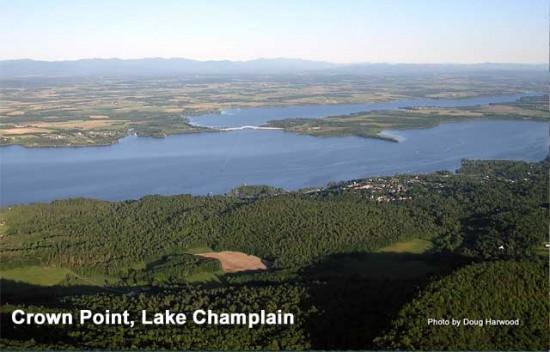 Lake Champlain near Crown Point, NY (Photo courtesy of Doug & Roger Harwood via America's Historic Lakes)
