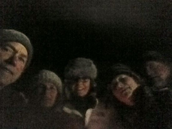 CATS Moonlight Hike Group Selfie