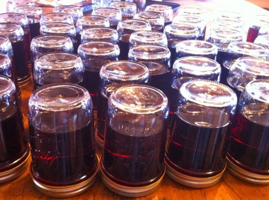 Canned the last of the previous year's syrup on Essex Farm. This year's sugar season coming up...(Credit: Kristin Kimball)