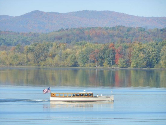 Fort Ticonderoga announced today that it has acquired the Carillon cruise boat, a 60 foot replica 1920s 1000 Islands cruise boat. Plans are underway for 2015 waterway tours and programs at Fort Ticonderoga. (Credit: Fort Ticonderoga)