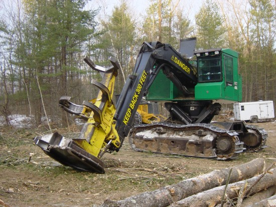 Giant chain saw, 4' blade at bottom (Credit: Kathryn Reinhardt)