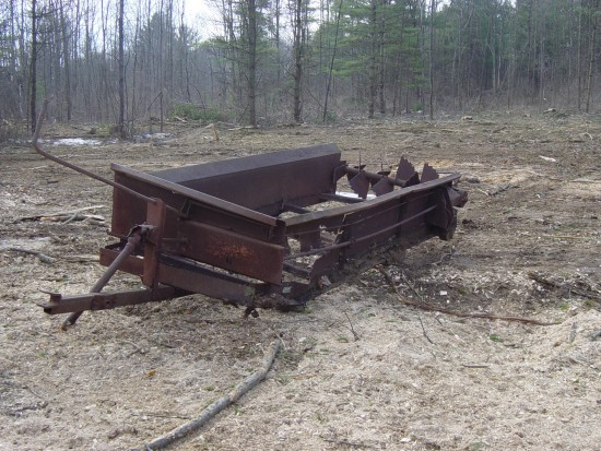 Manure spreader down from the woods (Credit: Kathryn Reinhardt)