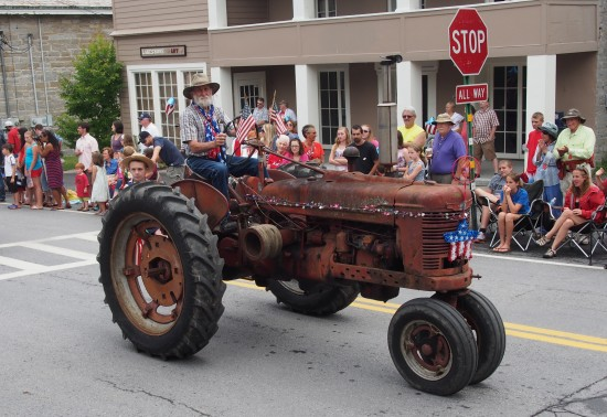 Essex 4th of July Parade: Farmer on Tractor (Credit: Jeff Moredock)
